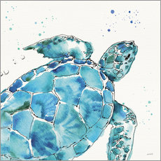 Wood print  Turtle IX - Anne Tavoletti