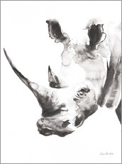Acrylic glass  White Rhinoceros