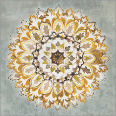 Wall sticker Mandala Delight II Yellow Grey