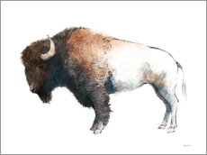 Acrylic glass  Colorful Bison Dark Brown - Avery Tillmon