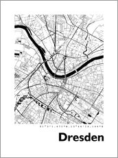 Canvas  City map of Dresden - 44spaces