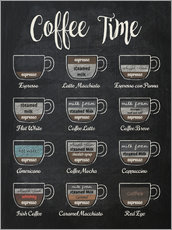 Wall sticker  Coffeetime - Typobox