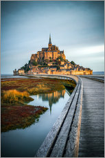Canvas print  Le Mont-Saint-Michel, France - Sören Bartosch