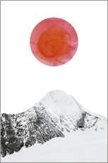 Foam board print  mountain sunset - Ohkimiko