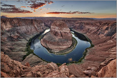 Poster sunset at Horseshoe Bend, Page, Arizona, USA, North America