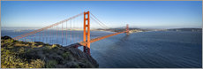 Canvas  Golden Gate Bridge, San Francisco, USA - Jan Christopher Becke