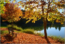 Premium poster  autumn on lake - GUGIGEI