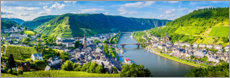 Acrylic print  Mosel valley in the sunshine - Art Couture