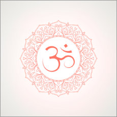Canvas print  Namaste coral