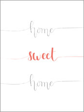 Aluminium print  Home sweet home - Typobox