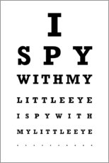 Wood print  Eye test English - Typobox