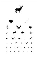 Wall sticker  Eye test icons - Typobox