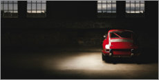 Foam board print  Red Porsche 911 - Art Couture