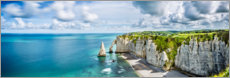 Premium poster  Rock gates of Etretat - Art Couture