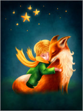 Wall Sticker  The Little Prince and The Fox - Elena Schweitzer
