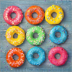 Premium poster Colorful donuts