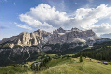 Foam board print  View over Colfosco to the Sella Group, Dolomites - Gerhard Wild