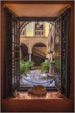 Acrylic print  View into the courtyard of the Palacio de Lebrija - Sören Bartosch