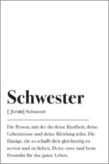 Gallery print  Schwester Definition (German) - Pulse of Art