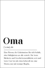 Acrylic print  Oma Definition (German) - Pulse of Art