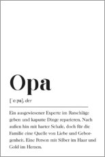Gallery print  Opa Definition (German) - Pulse of Art