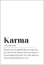 Aluminium print  Karma Definition - Johanna von Pulse of Art