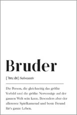 Alu-Dibond  Bruder Definition - Johanna von Pulse of Art