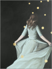 Premium poster  Dancing in the dark - back view of a young woman - Karoline Kroiss