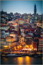 Premium poster  Porto in the evening, Portugal - Sören Bartosch