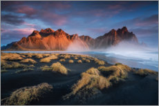 Aluminium print  Sunrise in Iceland with a view of the Vestrahorn - Dennis Fischer