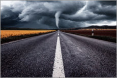 Wall Sticker  A road leads towards Tornado - Oliver Henze