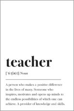 Aluminium print  Teacher Definition - Pulse of Art