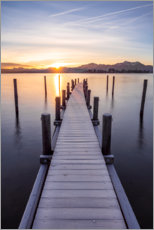 Wall sticker  Sunrise at the Chiemsee, Bavaria - Sebastian Jakob