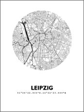 Gallery print  City map of Leipzig - 44spaces