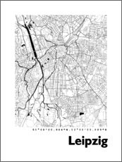 Canvas print  City map of Leipzig - 44spaces