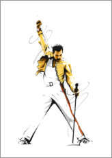 Wall sticker  Freddie Mercury - Tompico