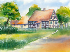 Premium poster Timbered house
