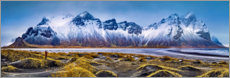 Premium poster  At the foot of the mountains - Iceland - Art Couture