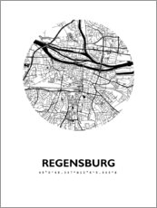 Gallery print  City map of Regensburg - 44spaces