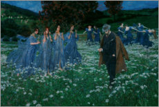 Wood print  A World - Maximilian Lenz