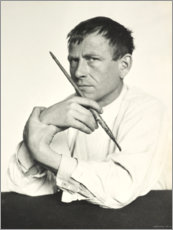 Premium poster  Otto Dix with brush - Hugo Erfurth