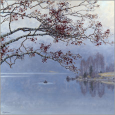 Gallery Print  Autumn mood at the lake - Gustaf Edolf Fjaestad