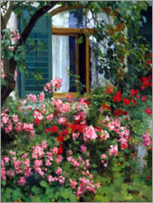 Poster  At the flower window - Franz Grässel