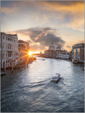 Premium poster Grand Canal at sunset, Venice