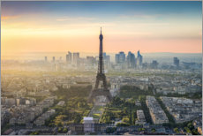 Premium poster Parisian skyline with Eiffel tower