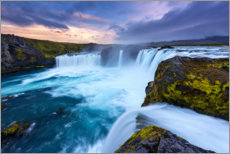 Canvas print  Waterfall of the gods - Dave Derbis