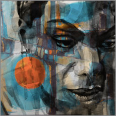 Foam board print  Nina Simone - Paul Lovering Arts