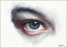 Canvas  Eye study in watercolors - Miroslav Zgabaj