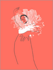 Poster  Fashion illustration Coral - Wadim Petunin