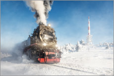 Acrylic print  Steam engine on the Brocken - Wanderkollektiv
